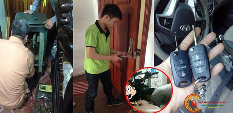Các gói dịch vụ sửa khóa tại nhà quận Ba Đình do Đức Quang cung cấp