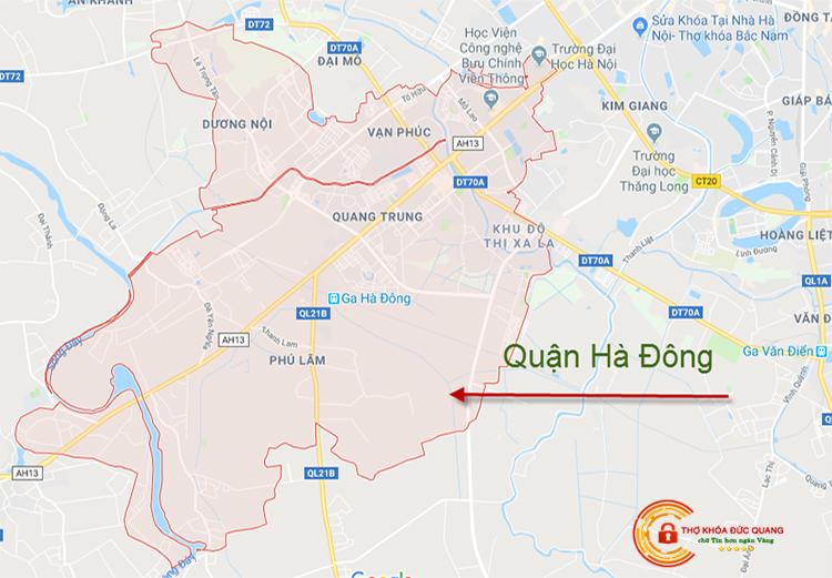 Đức Quang nhận sửa khóa tại nhà quận Hà Đông
