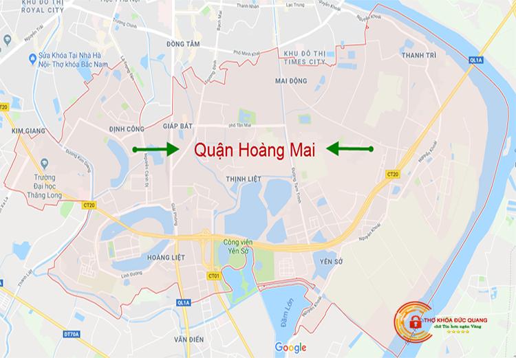 Đức Quang nhận sửa khóa tại nhà quận Hoàng Mai