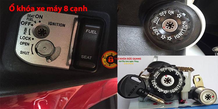 Ổ khóa xe máy có chìa 8 cạnh