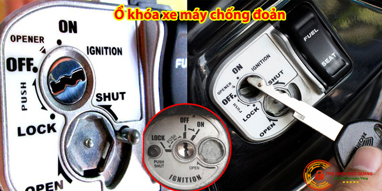 Ổ khóa xe máy có chìa chống đoản