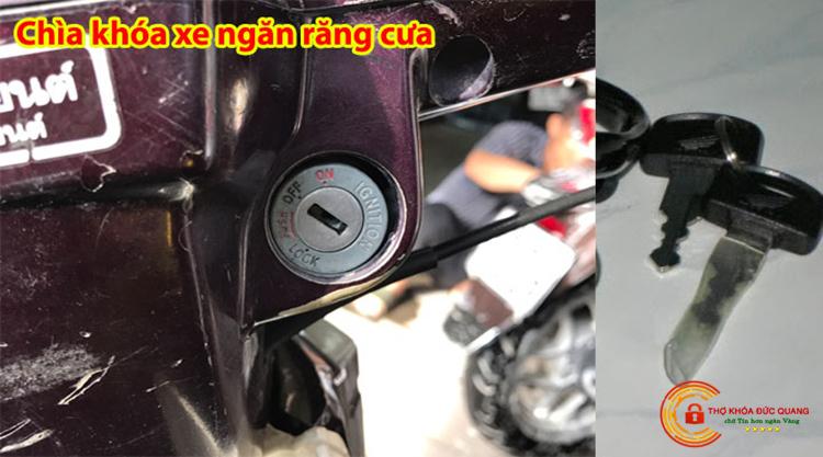 Ổ khóa xe máy có chìa ngắn răng cưa