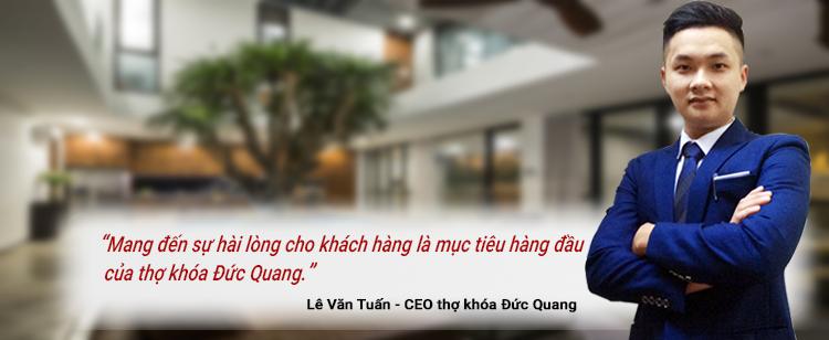 Triết lý kinh doanh của thợ khóa Đức Quang