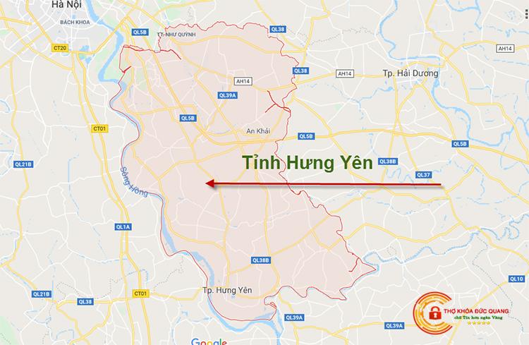 Sửa khóa tại nhà tỉnh Hưng Yên