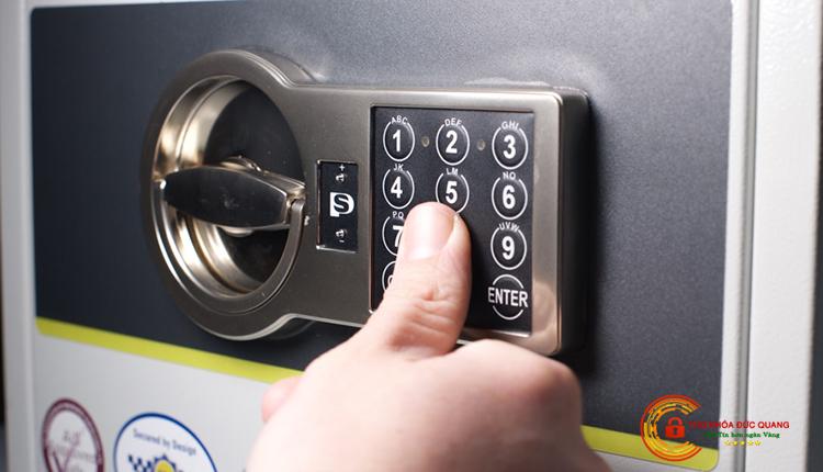 Ổ khóa két sắt điện tử không có màn hình hiển thị