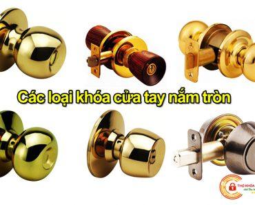 Các loại khóa cửa tay nắm tròn