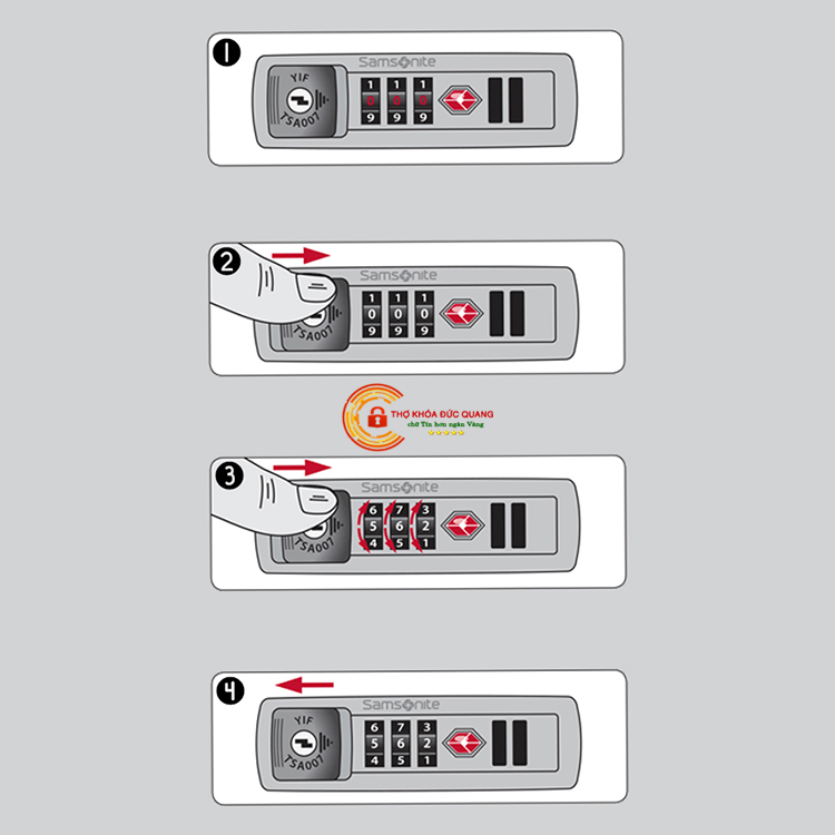 Cách đổi mã Vali TSA loại 6