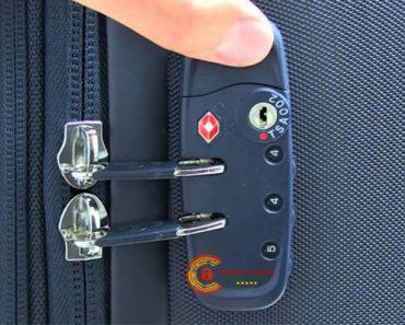 Cách mở vali khi bị kẹt