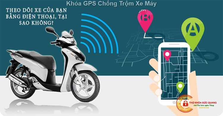 Khóa chống trộm xe máy bằng GPS