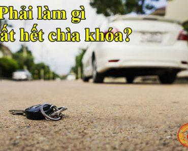 Bị mất chìa khóa xe ô tô phải làm sao ?