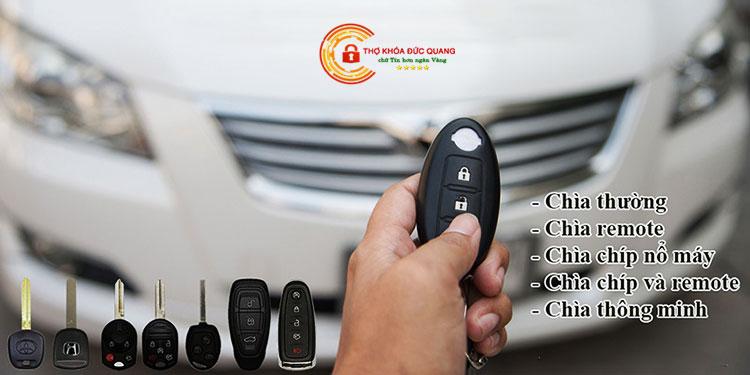 Các gói dịch vụ làm chìa khóa ô tô tại Thái Nguyên
