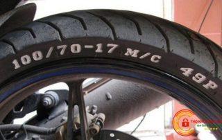 Cách đọc kí hiệu lốp xe máy theo độ bẹt