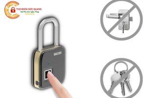 Ổ khóa chống trộm bằng vân tay